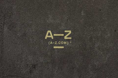 A-Z.com Logo auf grauem Boden