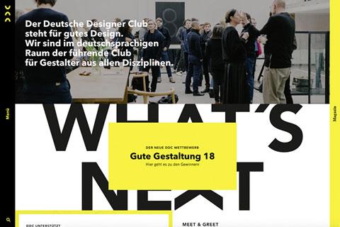 Website vom DDC Deutscher Designer Club e. V.