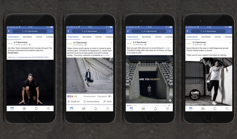 Vier Facebook Beträge von A-Z auf iPhones